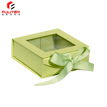 Cardboard Gift Box With PVC Window Clear Lid View Top Boxes