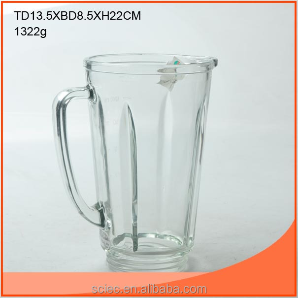 good quality clear glass blender cup