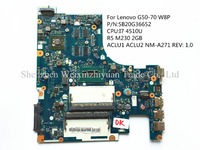 For Lenovo G50-70 W8P Laptop motherboard 5B20G36652 I7 4510U R5 M230 2GB ACLU1 ACLU2 NM-A271 REV: 1.0 100% tested