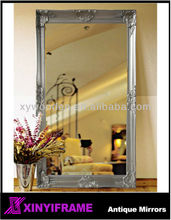 Victorican fashion wood wall handcraft gold salon mirror station