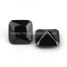 Octagon Cut Stone/Square Shape CZ/Black Cubic Zirconia