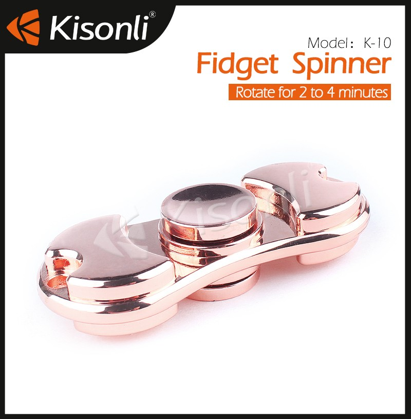 High speed multi color tri hand figet spinners toys ceramic desk toys for adults