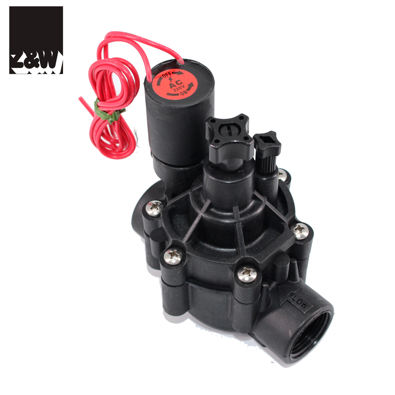 plastic irrigation solenoid valve 076D landscaping agriculture watering magnetic pulse 3/4""