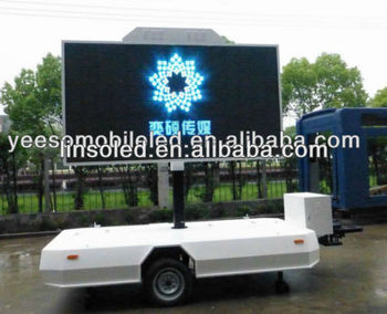 YES-T1 Outdoor Mobile&Moving LED Sign Video Billboard Trailer For Outdoor Advertising