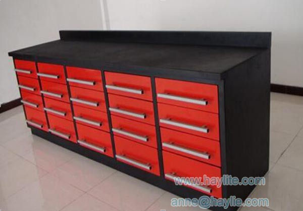 heavy duty metal drawer workbench for garage workshop
