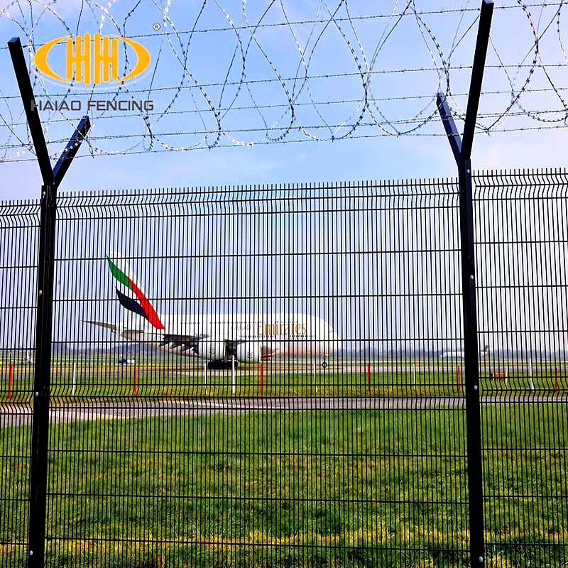 Wholesale laser fence security system razor wire prison fence,wire mesh fence for boundary wall,airport fence