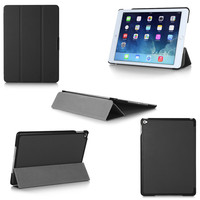 Trifold Smart Stand Ultra Thin Folio Cover Tablets E-Books Cases For IPad Air 2 With Sleep Wake Up Function