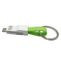 Hot Promotion Gift 3 in 1 Magnetic keychain usb charger cable for android,ios and type c smartphones