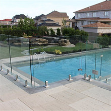 Australia frameless glass fencing pool ss316 spigots