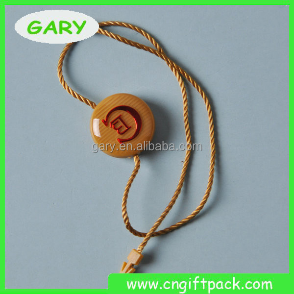Luxury Plastic String Tag Lock / Hang Tag Plastic Seal Cord