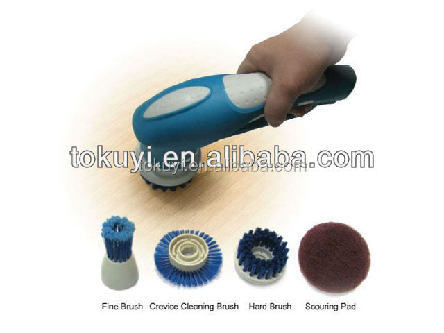 Cordless bathroom cleaner, electric kitchen scrubber, window and glass cleaning brush