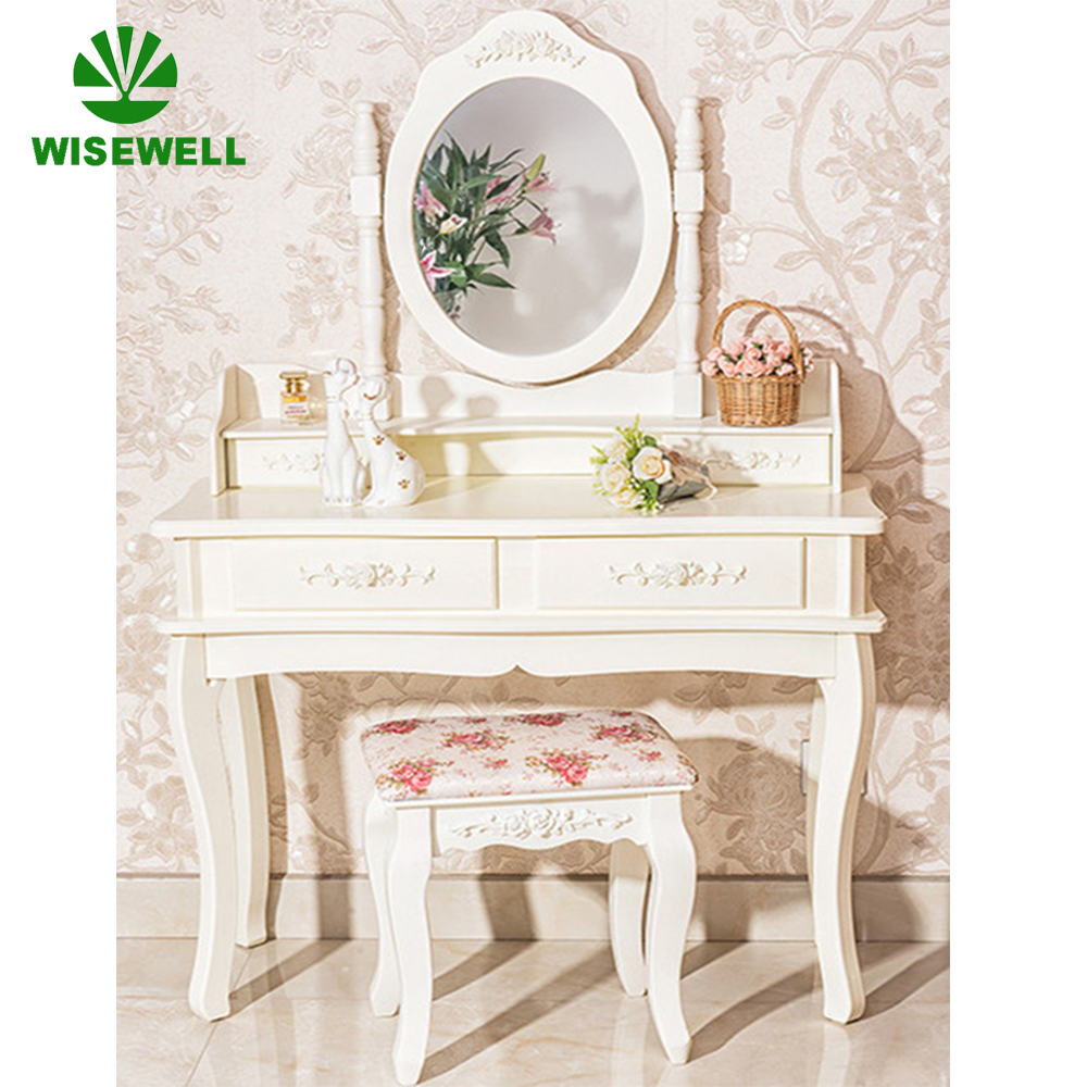 W-HY-001 MDF bedroom mirrored dresser designs for UK