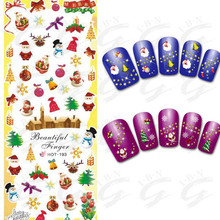 Christmas step by step nail art designs oem photos stickers