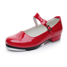 Wholesale Low MOQ Girls Kids Step Dance Wear Red Tap Shoes