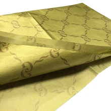 wholesale custom printed gold silk wrapping paper biodegradable tissue paper
