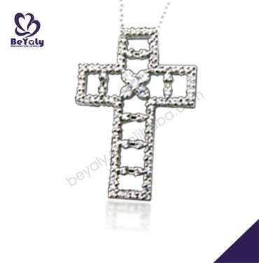 Christmas wholesale stepped cross turkish silver necklace jewelry