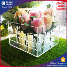 fancy chain acrylic flower box , customized acrylic rose box , boxes for flowers