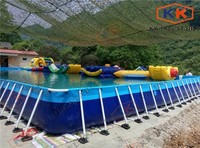 Plastic above ground framed swimming pool intex park inflatable frame pool