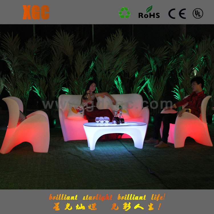 led furniture sofa bed, portable sofa bed GF411 and 412