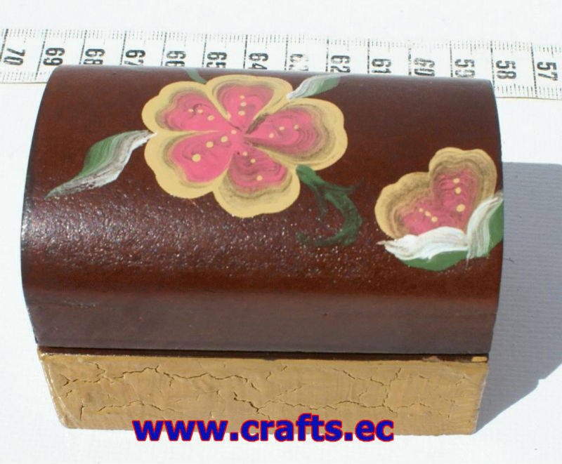 Flower painted hand made wooden box, ethnic wooden craft boxes for sale