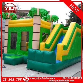 2017 hot sale small commercial inflatable bouncer combo/ inflatable castle combo