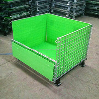 pallet mesh, steel storage cages, foldable steel wire mesh storage baskets for wine bottles