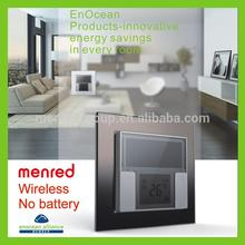 MENRED Home wall Solar power No batterty No wiring smart home wireless wifi light switch with touch screen