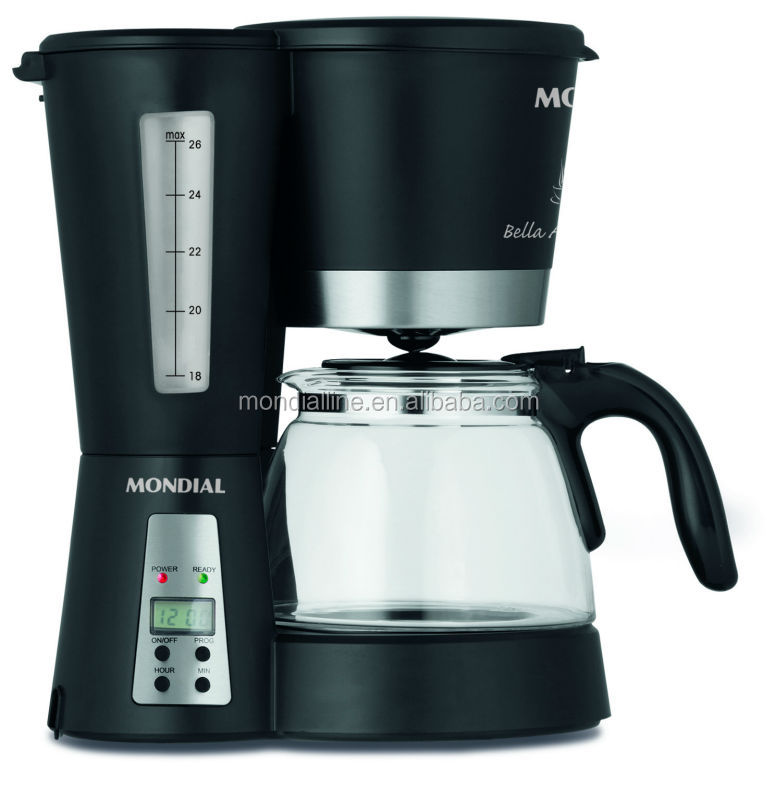 digital 1.3L 800w dripping coffee maker with LED display