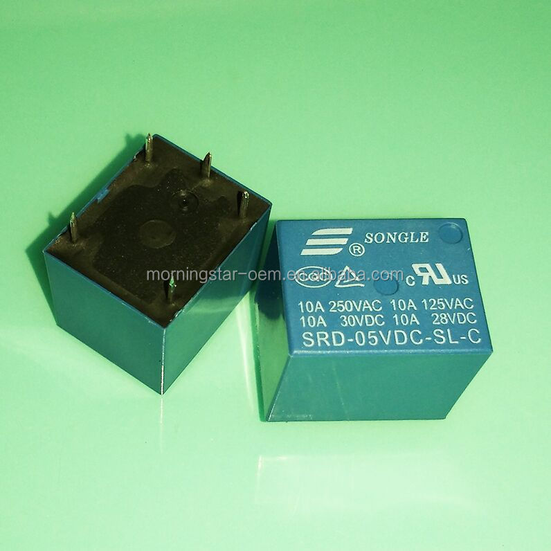 5V DC SONGLE Power Relay T73-5V SRD-5VDC-SL-C SRD-05VDC-SL-C PCB Type In stock
