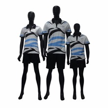 High Quality Custom Made Sublimation Parents-child Polo T Shirts Family Polo T shirts