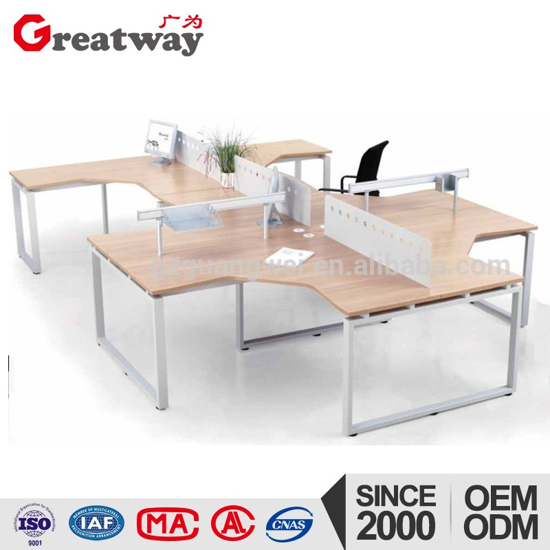 high quality office 4 seats steel workstation desk