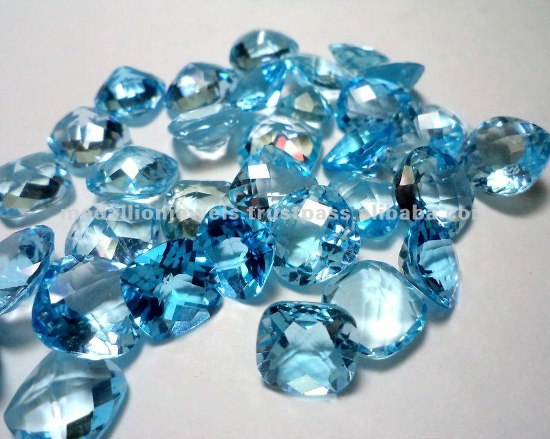 Sky Blue Topaz All Sizes Facet Cut Loose Natural Gemstone, Natural Loose Facet Gemstone