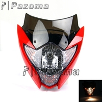 Popular Pazoma Motorbike Headlamp Turn Signal Light With Red Mask Fit for Supermoto Streetbike