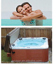 Hot sale dual zone swim spa,sexy massage hot tub,double whirlpool bathtubs