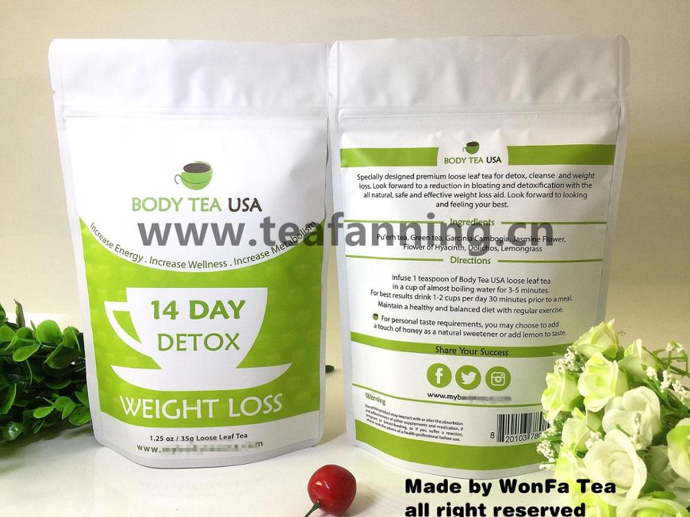 Private label Fruit flavor14 day Skinny Detox Slim Tea and diet