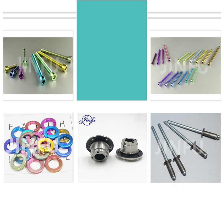Titanium fastener titanium countersunk hex socket head cap screw titanium countersunk head screw