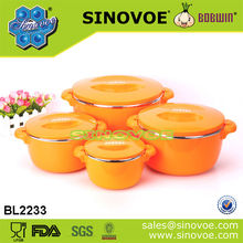 2014 New 4PCS Plastic Thermal Casseroles Hot Pot