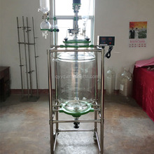 20l 50l 100l borosilicate 3.3 glass pyrex glass Jacketed Glass chemical Reactor