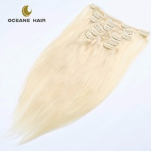 Oceane hair wholesale white remy clip in hair extension