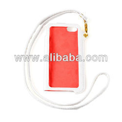 Protective PU Leather Case / Hanging Protection Bag for iPhone 5