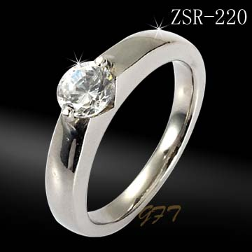 Wholesale fashion 316l stainless steel rings with <strong>diamond</strong>