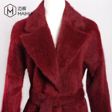 Factory Wholesale Women's Winter Clothing New Fashion Colored Real Fur Coat