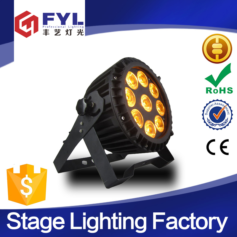 factory price stage lighting equipment 9x15W rgbwa uv led par 64
