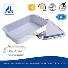 white lacquer Aluminium Foil tray for Airline Catering
