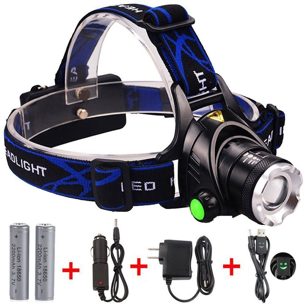 Cheap Wholesale Aluminum 2*18650 Rechargeable headlight 800 lumens Best bright led coal miners headlamp