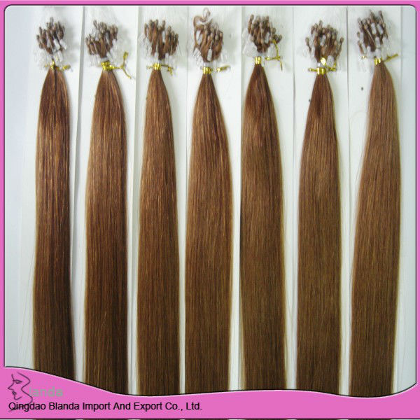 deep wave micro fish line remy human hair extensions