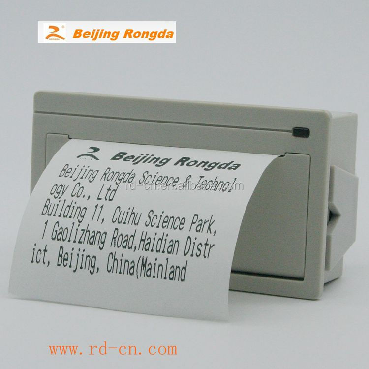 Rongda 58mm usb thermal receipt <strong>printer</strong> taxi receipt <strong>printer</strong> mini panel thermal <strong>printer</strong> rs232 serial port