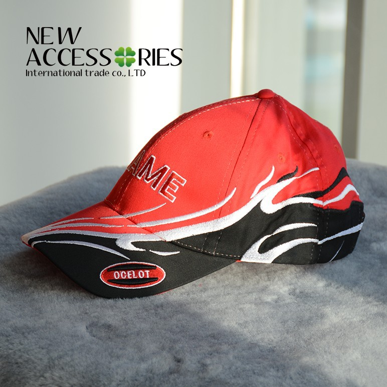 factory custom unisex cheap cotton red baseball cap