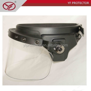 PC face shield high impact /Flat visor/Anti riot face shield