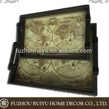 Alibaba OBM wholesale rustic small serving wooden lap tray
